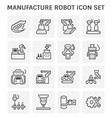 manufacture robot icon vector image
