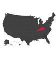 map of usa - kentucky vector image