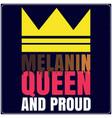 melanin queen saying typography t shirt design wit vector image vector image