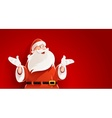 Merry Santa Claus telling vector image vector image