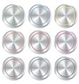 Metallic buttons template set Realistic icons vector image