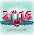 New Year 2016 and christmas decoration vector image vector image
