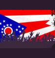 ohio state flag with audience vector image vector image