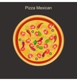 Pizza mexican vector image vector image