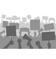 protesters people crowd silhouette protest vector image vector image