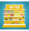Raw Vegetarian Food Concept in Flat Design vector image vector image
