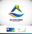 Real estate house roof logo vector image vector image