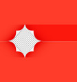 realistic red paper corners isolated on vector image vector image