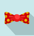 red yellow bow tie icon flat style vector image