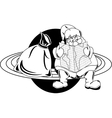 Santa Claus on the planet vector image vector image