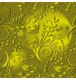 seamless background with gold leaves vector image vector image