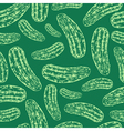 Seamless cucumber pattern vector image vector image