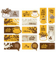 set of banners on the theme of coffee vector image