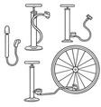 set of bicycle pump vector image