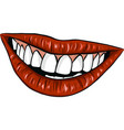 sexy woman mounth with red lips vector image vector image