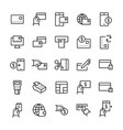 simple icon set pay items in line style symbols vector image vector image