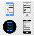smartphone task list eps icon with contour vector image