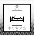 smoking in bed icon