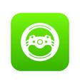 steering wheel icon green vector image vector image