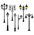 Street lights set vector image vector image