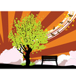 Summer with green tree vector image