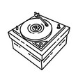 turntable icon doodle hand drawn or outline icon vector image