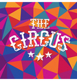 Vintage circus background Triangles colorful