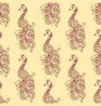 henna tattoo seamless pattern mehndi flower doodle vector image