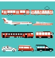 set of color public transport vector image