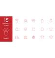 15 shirt icons vector image vector image