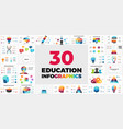30 educational infographics presentation template vector image