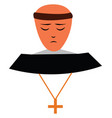a christian monk wearing a chain with a vector image vector image