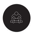 anxiety disorder black concept icon vector image vector image