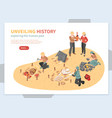 archaeological exploration isometric concept vector image vector image