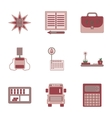 assembly flat icons school supplies vector image vector image