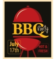 BBQ party with barbecues vector image vector image