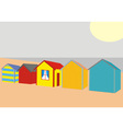 Beach Houses vector image