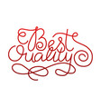 best quality lettering card design template for vector image