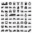 big transportation icon set vector image vector image