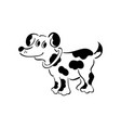 black and white dog smart and darling doggy vector image