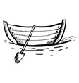 boat drawing on white background vector image vector image