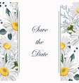 botanical spring wedding invitation card template vector image