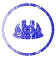 builder hardhat grunge textured icon vector image