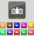 Business center icon sign Set with eleven colored vector image vector image