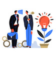 business partners sharing ideas on development vector image