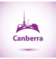 Canberra detailed silhouette Trendy vector image vector image