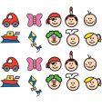 child like doodles vector image