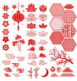 chinese new year elements festive oriental asian vector image vector image