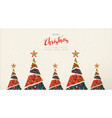 christmas and new year folk art greeting card vector image vector image