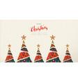 christmas and new year folk art greeting card vector image vector image